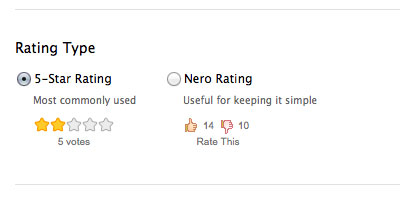 5-Star or Nero Ratings
